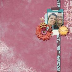 Love layout by Cheré Kaye Designs