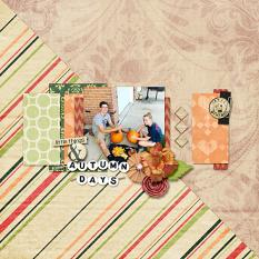 Autumn Days layout by Cheré Kaye Designs