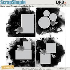 ScrapSimple Digital Layout Template: Large Masks • Set 03 by DRB Designs