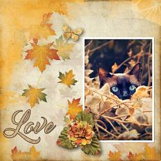 """Love"" digital scrapbook layout by Carmel Munro"