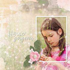 """Hello gorgeous"" digital scrapbook layout by Carmel Munro"