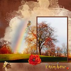 """Rainbow"" digital scrapbook layout by Geraldine Touitou"