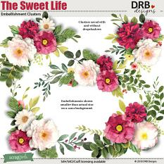 The Sweet Life Embellishment Clusters by DRB Designs | ScrapGirls.com