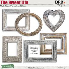 The Sweet Life White Washed Frame Embellishments by DRB Designs | ScrapGirls.com