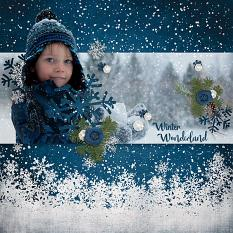 Layout using ScrapSimple Digital Layout Templates:Blue Snow