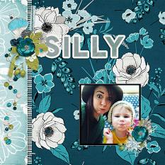 """""""Silly"""" digital scrapbook layout by Andrea Hutton"""