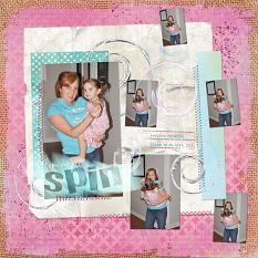 "Digital Scrapbooking Layout ""Spin"" by Amanda S (see supply list with links below)"