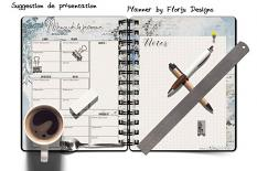 layout using Planner Addict : Insert A5 by Florju designs