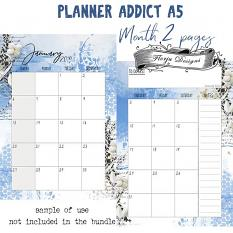layout using Planner Addict : Month 2 Pages A5 by Florju Designs