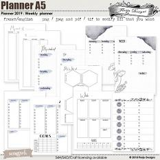 Planner Addict : Weekly Planner A5 by Florju Designs