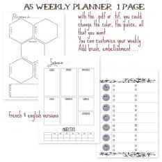 layout using Planner Addict : Weekly Planner A5 by Florju Designs