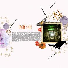 Layout by Marie Orsini using the kits in the Sort of Halloween series.
