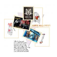 Layout by Marie Orsini using the kits in the Sort of Halloween series by Aftermidnight design