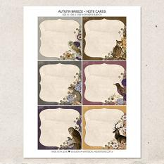 Autumn Breeze Note Cards by On A Whimsical Adventure