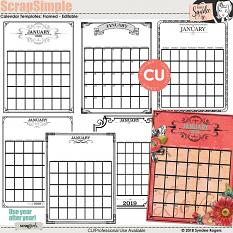 Framed - Editable Calendar Templates