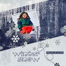 Layout using ScrapSimple Digital Layout Templates:Blue Snow vol2