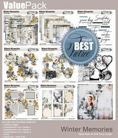 layout using Winter Memory Embellishment Mini : Cluster Pack 1 by florju designs