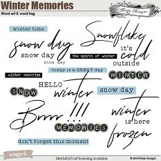 Winter Memory : Wordt Art and Word tag by Florju Designs
