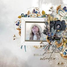 layout using Winter Memory : Wordt Art and Word tag by Florju Designs