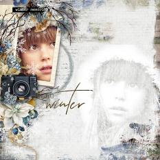 layout using  Easy Page Pro: Winter Memory Album by florju designs