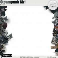 Steampunk Girl Borders page