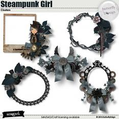Steampunk Girl Clusters