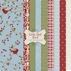 Little Red Bird Christmas layer styles samples