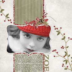 Scrapbook page created using Little Red Bird layer styles