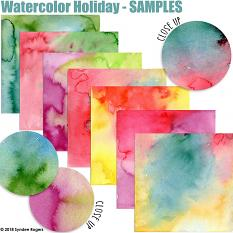 Watercolor Holiday Custom Layer Styles samples