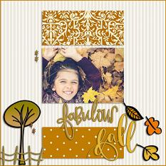 Scrapbook page created with Fabulous Fall Graphics and Templates