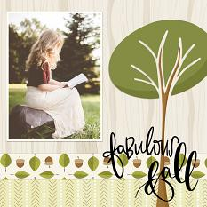 Scrapbook layout created using Fabulous Fall Graphics and Templates