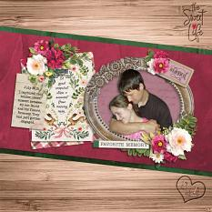 """The Sweet Life"" digital scrapbook layout by Sue Maravelas"