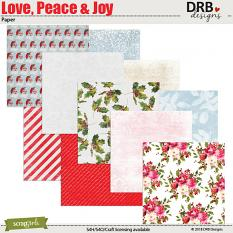 Love Peace & Joy Paper by DRB Designs | ScrapGirls.com