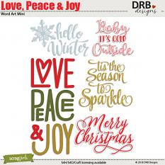 Love Peace & Joy Frame Word Art Mini by DRB Designs | ScrapGirls.com