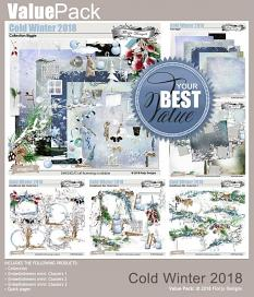 layout using Easy Page Pro: Cold Winter 2018 Album by Florju designs