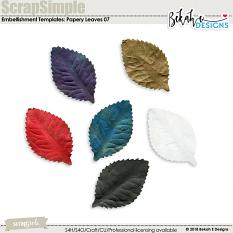 ScrapSimple Embellishment Templates: Papery Leaves 07
