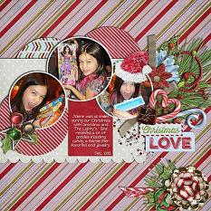 Layout by Joanna using Wintery Moments: Christmastime: Collection Biggie