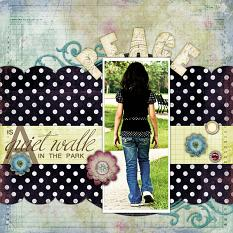 Digital scrapbooking layout by MiYon Richardson (See supply list with links below)