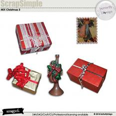 ScrapSimple Embellishment Templates : Christmas mix 3