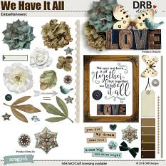 We Have It All Embellishment by DRB Designs | ScrapGirls.com