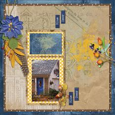 Layout using ScrapSimple Digital Layout Templates:Once Beautiful