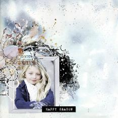 layout using Cosy Winter Collection Biggie by Florju Designs