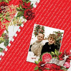 """Tis the Season"" digital scrapbook layout by Vikki Lamar"