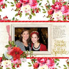 """Tis the Season"" digital scrapbook layout by April Martell"