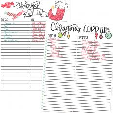 Planner pages using Christmas Wishes planner Graphics and templates