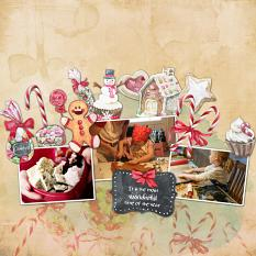 Layout by Marie Orsini using Christmas Goodies Collection Mini by Aftermidnight Design