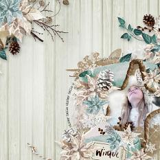 layout using Easy Page Pro: Amazing Winter Album by Florju Designs
