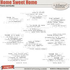 Home Sweet Home Poems and Quotes by On A Whimsical Adventure