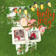 Layout by Marie Orsini using Christmas Friends by Aftermidnight Design