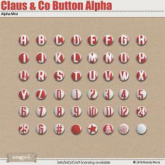 Claus & Co. Button Alpha by Brandy Murry